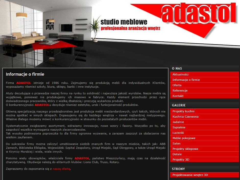 Strona internetowa adastol.com