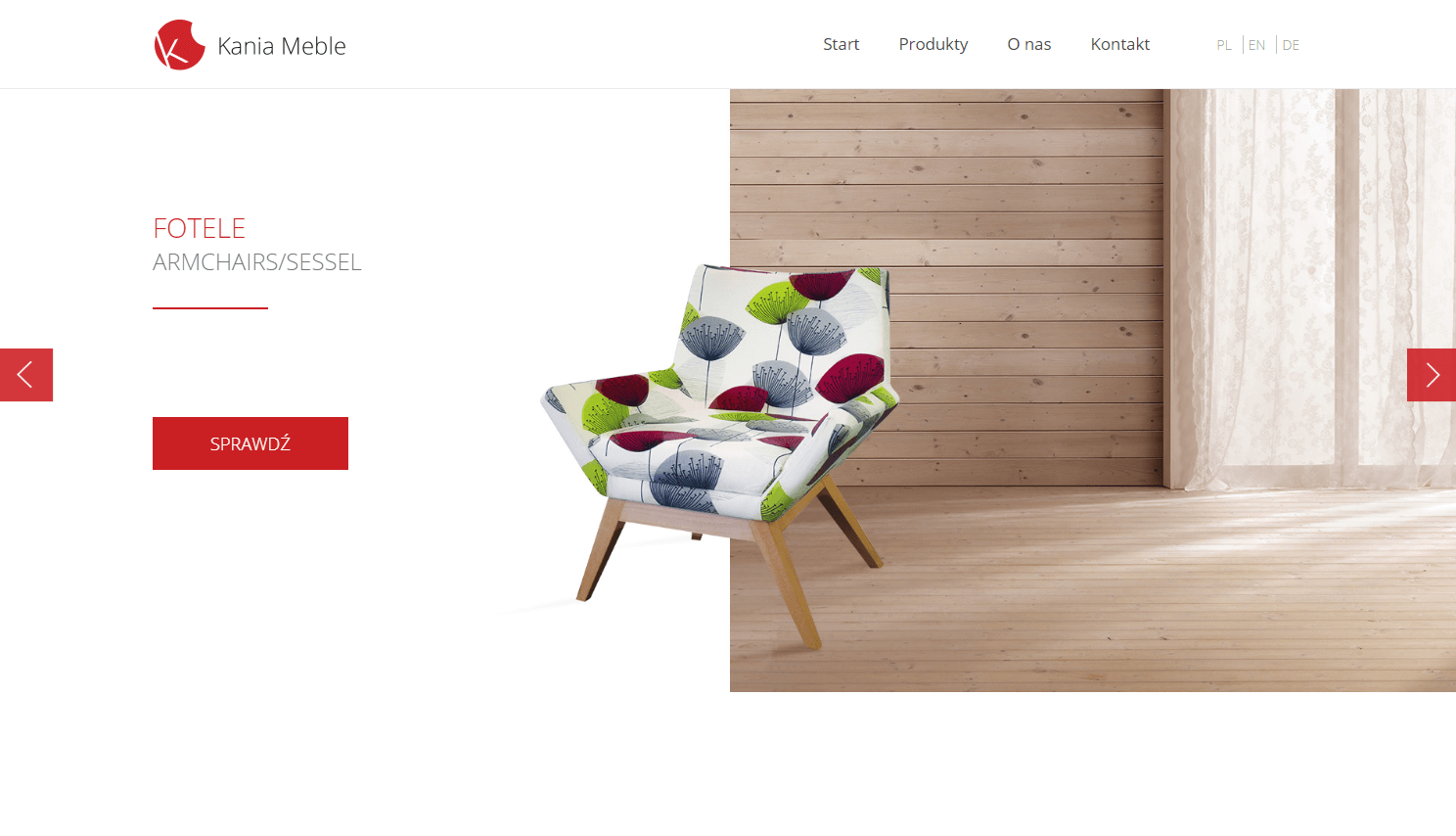 Strona internetowa kaniameble.pl
