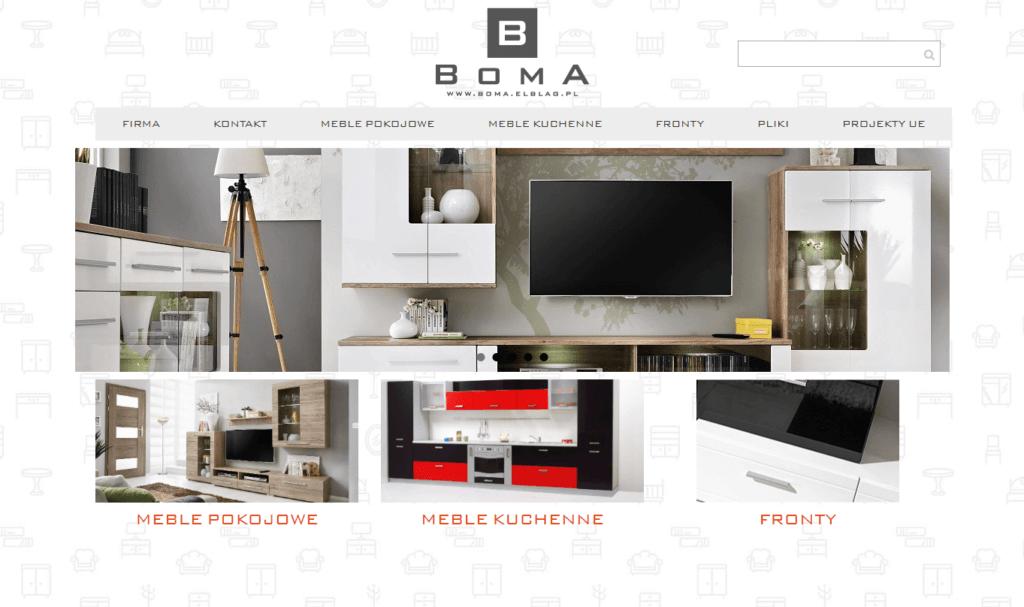 Strona internetowa www.boma.elblag.pl