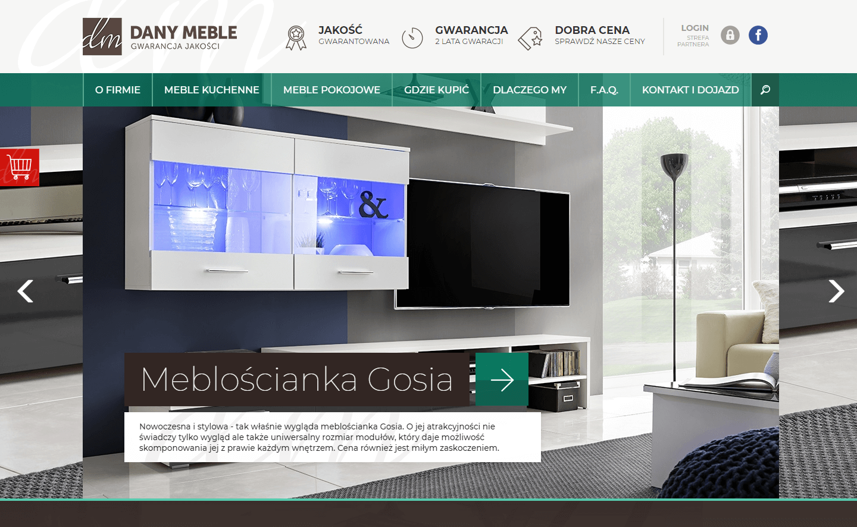 Strona internetowa www.dany-meble.pl