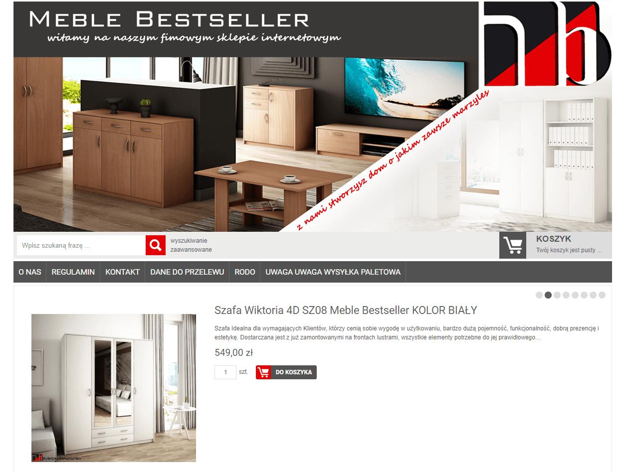 Strona internetowa www.meble-bestseller.pl